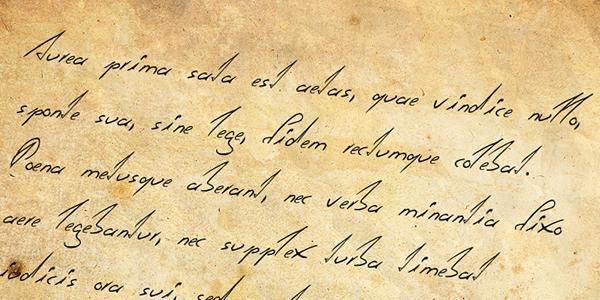 la letra escrita de la: